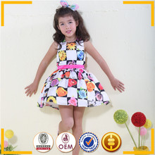 Nice polyester girls dresses Flowers design fashion kids party wear girl dress