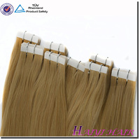 Large Stock Top Quality Virgin Hair Tape Hair Extension Number 2 Hair Color Weave