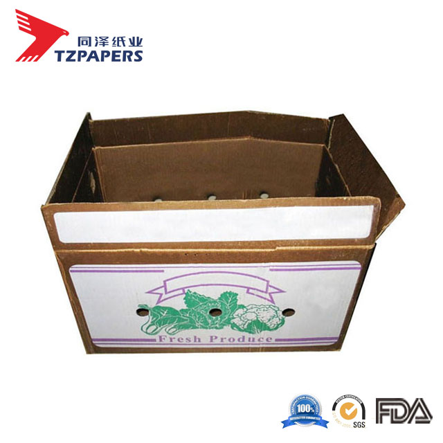 Hot Sale Custom Waxed Carton Vegetables/ Fresh Lettuce Packaging Delivery Box