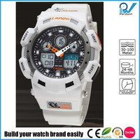 water resistant 100 meters stopwatch dual time functions sport watch