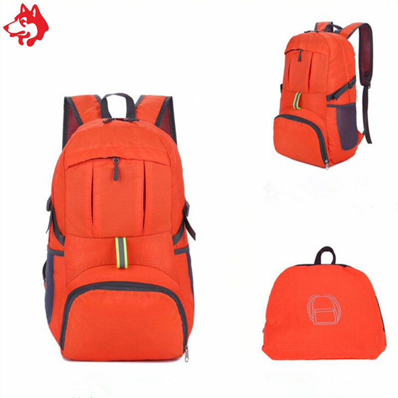 Packable Handy Lightweight Travel 35L Folding orange womens hiking backpack
