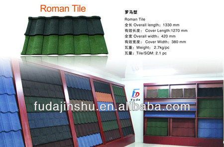 Corrugated Waves metal roofing tile with stone chip coating