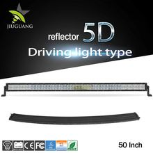 "Ce Rohs Wholesale 4X4 Led Offroad Light Bar, Dual Row 12V 288W 50"" Curved Led Light Bar For Offroad"