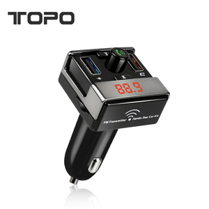 Mobile MP3 player Bluetooth hands-free Phone cigarette lighter Double USB charger 10-1c \2679