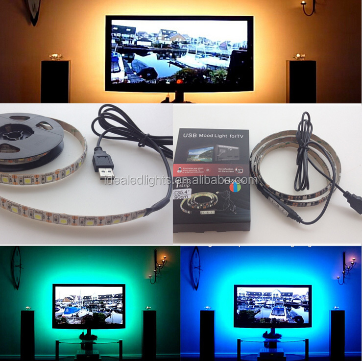 5V USB RGB LED Mood Light/TV Back lighting/Strip Light