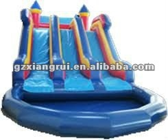 commercial inflatable pool slide