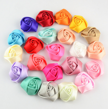 40 Colors Make Satin Flowers DIY Craft Wedding Appliques A098