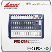 Lane 12 channel video usb mixer audio PMX - 1206U