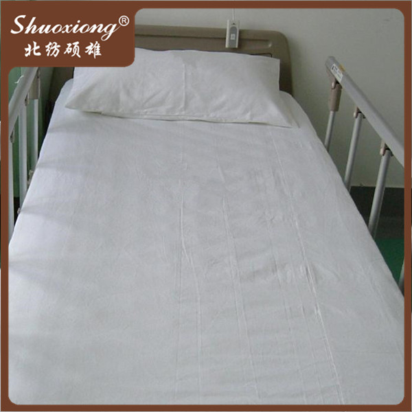 100% cotton plain medical bed sheet for hospital bedding