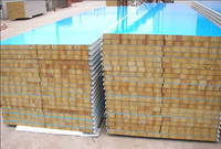casas prefabricadas de rockwool sandwich panel for wall
