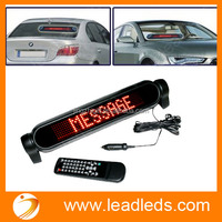 DC12V CUSTOMIZED LANGUAGE RED MOVING TEXT MESSAGE FACTORY PRICE DISPLAY VISION LED CAR SIGNS
