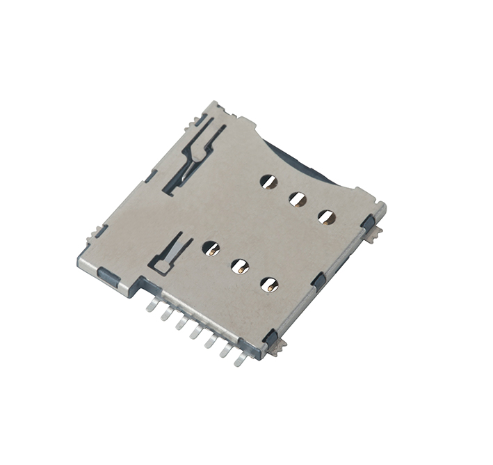 micro sim socket for circuit board wiring connector