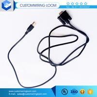 usb to rj45 extension adaptor cable with usb connector shell