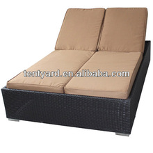 outdoor waterproof double chaise lounge cushions
