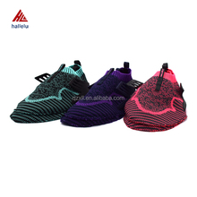 2017 Newly Designed Women Fly Knit Shoe Uppers Summer Breathable Slip On Air Holes Mujer Running Sport Shoes Uppers