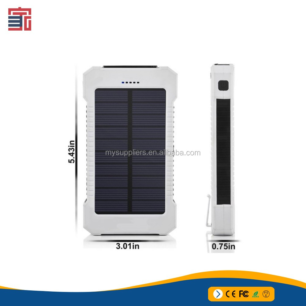 Outdoor travel power bank solar panel charger wireless battery system