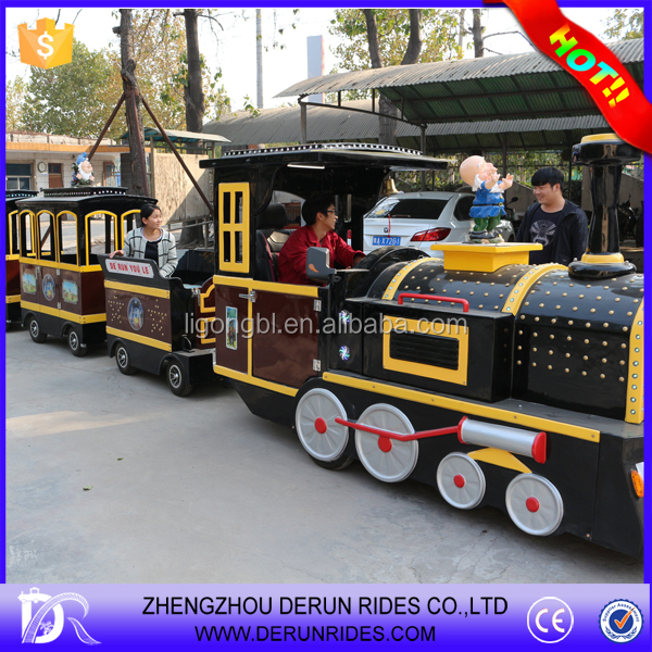 Amusement Equipment electric used trackless train for sale