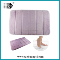 100% polyester coral fleece bathroom floor mat