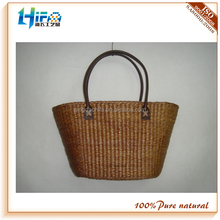 HIFA Qingdao recycle natural new design new style ladies straw shopping straw bags beach woven bags