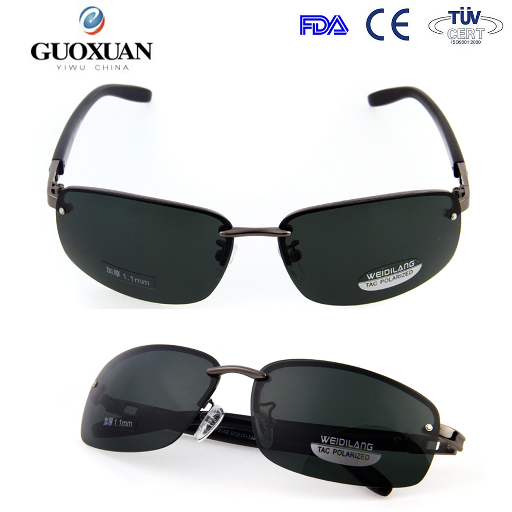 Black plastic frame tea color lense polic sunglasses new design