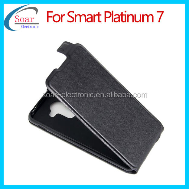 Factory wholesaler low price flip cover for Vodafone smart platinum 7 leather flip case