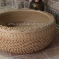 Jingdezhen traditional handmade bathroom accessory ceramic basin mini wash basin
