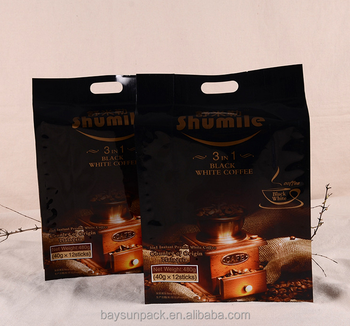 High quality food seal and drink packaging pouch clear zipper nut coffee bean bag