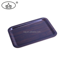 High quality non-slip long wooden tray fast food tray