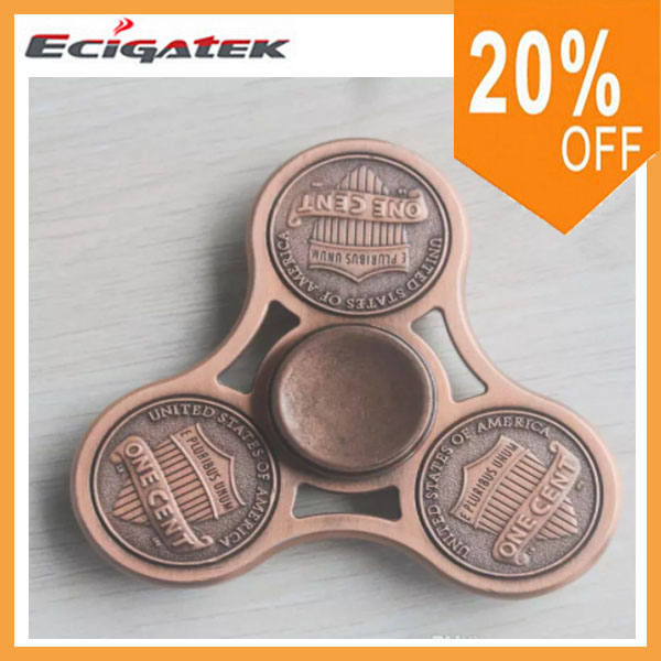 US dollar America cent brass copper fidgets toys gyro toys hand spinner fingertips 3d metal wind spinner metal spinner