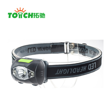3W Ultra Bright Mini White LED Headlight Headlamp 3 Modes 2LED Red Flashlight for Outdoor