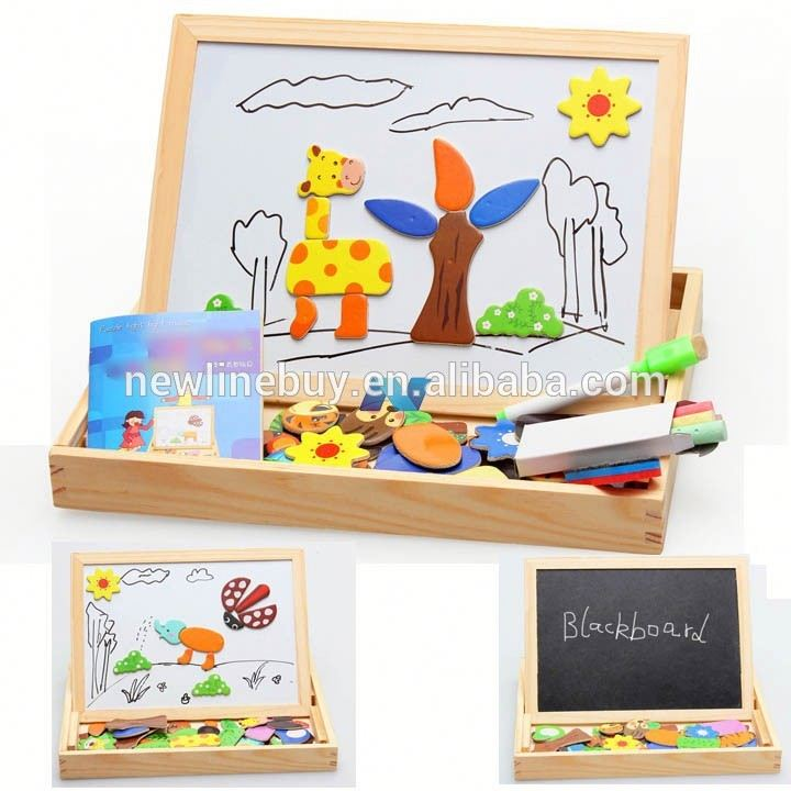 Baby Kids Wood Magnetic Oppssed ld Eduional Toys <strong>Animal</strong> Spells Happily