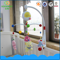 Hot selling hanging cute plush animal mobile musical baby crib toy