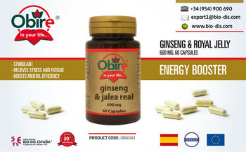 Ginseng + Royal Jelly 600 mg 60 capsules - Food supplements