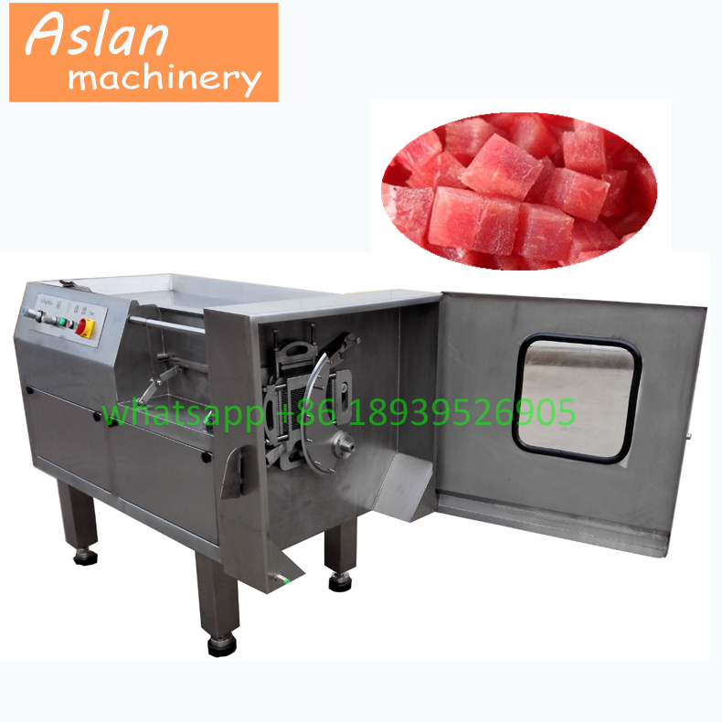 commercial meat dicer machine/frozen meat dice cutting machine/chicken beef pork cube cutter for sale
