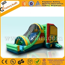 inflatable jumping combo with art panel,bounce house A3099
