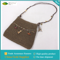 Fashion handmade paper woven single-shoulder bag