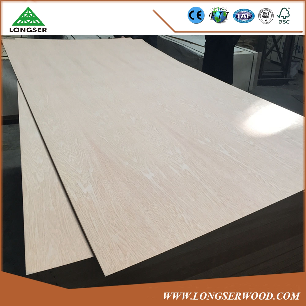 Double sides 16mm Red Oak MDF for Furniture Use
