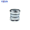 Metal screw pipe connector for emt compression coupling