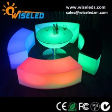 hot sale rgb colors changing led lighting up curved bench for pool party