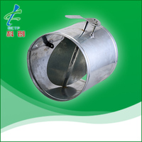 HVAC round volume control damper for duct