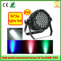 54*3W Dj Clubs Stage Show RGB Waterproof IP65 Par dmx led light outdoor