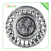 New design Stainless steel flower tray/flower tray/round tray