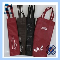 New arrival 1 bottle non woven wine tote bag wholesale