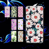Thin Slim Soft Gel TPU Pink Flower Painted Phone Cases Back Cover for iPhone6s/6s plus/6/6plus