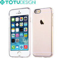 TOTU Cheap Full protective Transparent TPU PC phone case for iPhone 6