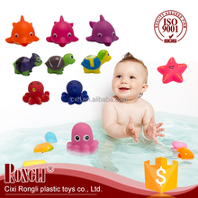 2017 Hot Selling Factory Direct Sales Quality Assurance Tub Town Kids Rubber Bath Toys