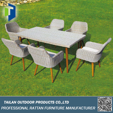 Dining table set 6 chairs, garden furniture outdoor modern dining set