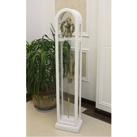 Vintage Decorative Metal Wood Floor Standing Grandfather Clock