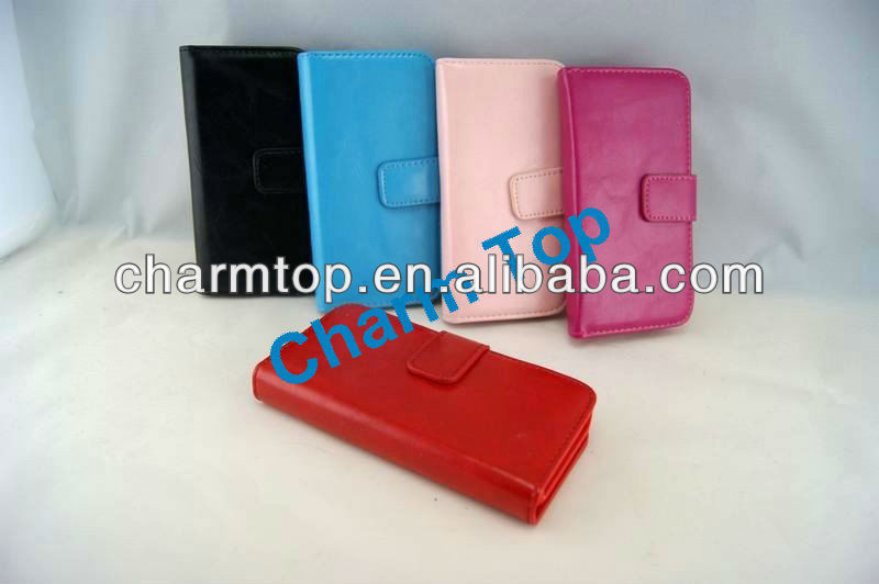 Wallet Leather Cover Case For Apple iPhone 5 5G