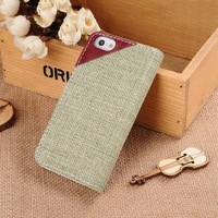 New top sell standing pu leather case for iphone5